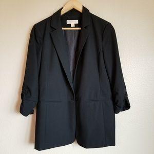 michael kors boyfriend blazer black size 10